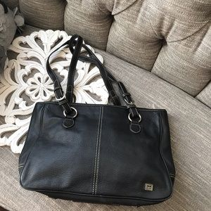 The  Sak Black Leather Purse Handbag